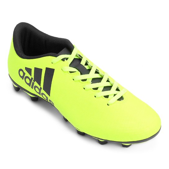 b9c2c9183f Chuteira Campo Adidas X 17.4 FXG - Verde Limão