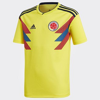 b8726a829d469 Camisa Colômbia Infantil Home 2018 s n° Torcedor Adidas