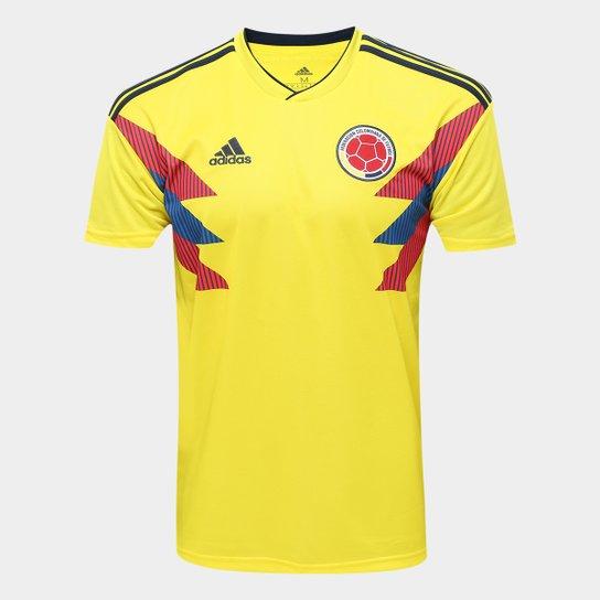 Camisa Seleção Colômbia Home 2018 s n° Torcedor Adidas Masculina - Amarelo 3e64d377989e0