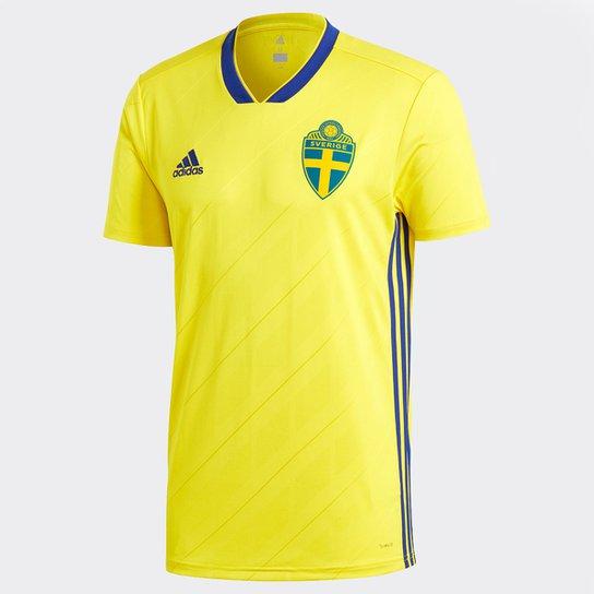 Camisa Seleção Suécia Home 2018 s n° Torcedor Masculina - Amarelo ... 3ac200166e671