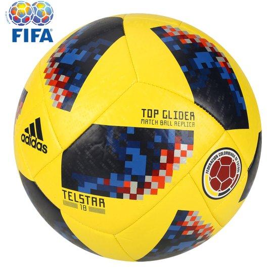 a9a9b02cd Bola Futebol Campo Adidas Telstar 18 TOP Glider Colômbia Copa do Mundo FIFA  - Amarelo