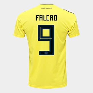 ffa1ceab46c92 Camisa Seleção Colômbia Home 2018 n° 9 Falcao - Torcedor Adidas Masculina