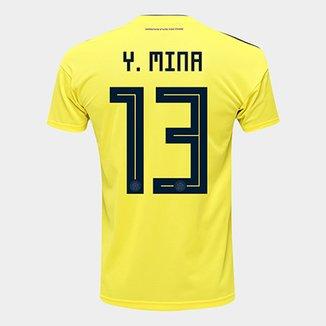 bbcb97bf97998 Camisa Seleção Colômbia Home 2018 n° 13 Y. Mina - Torcedor Adidas Masculina