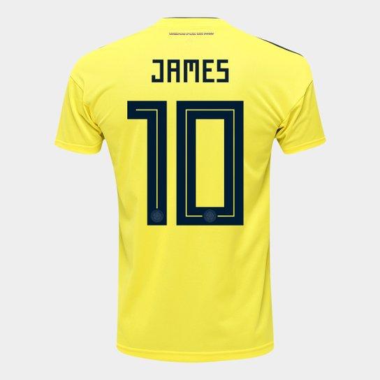 Camisa Seleção Colômbia Home 2018 n° 10 James - Torcedor Adidas Masculina -  Amarelo c179b483261