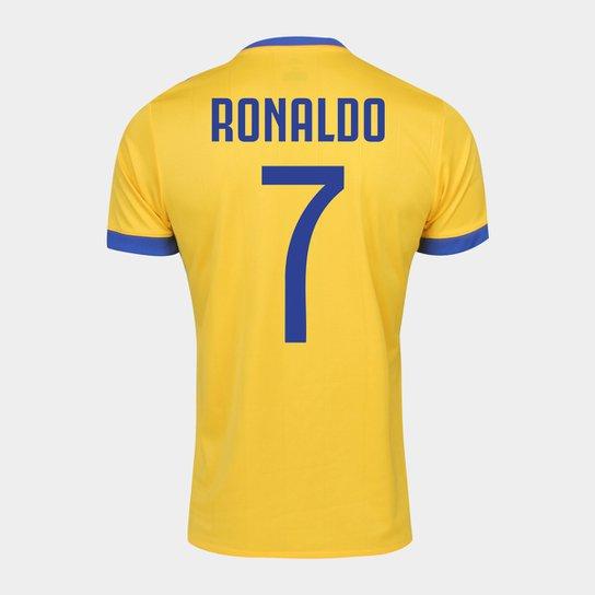 7aa925733f Camisa Juventus Away 17/18 nº 7 Ronaldo - Torcedor Adidas Masculina -  Amarelo