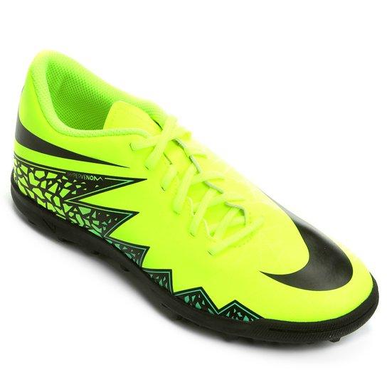 Chuteira Society Nike Hypervenom Phade 2 TF - Verde Limão+Preto 8466c5ab4bd2e