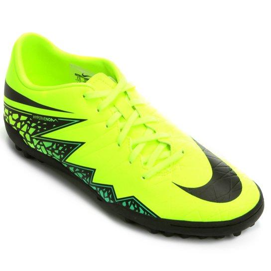 d6f39733a4 Chuteira Society Nike Hypervenom Phelon 2 TF - Verde Limão+Preto