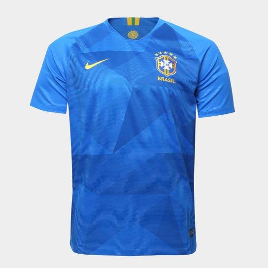 Camisa Seleção Brasil II 2018 s n° - Torcedor Nike Masculina - Azul bc3e7940fa61f