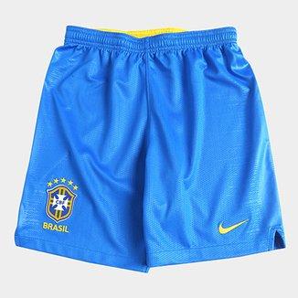 Calção Seleção Brasil Infantil I 2018 Torcedor Nike e1d4540cbf6c2