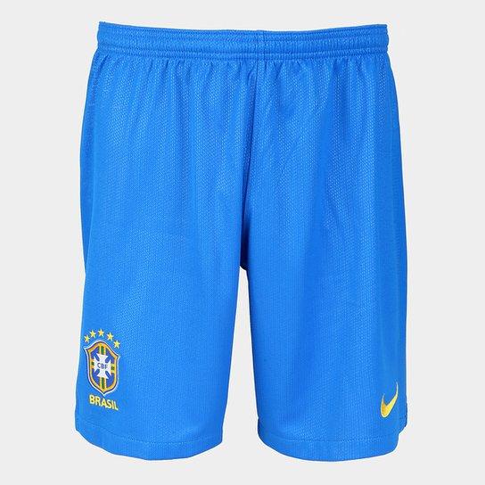 33b3594e34 Calção Seleção Brasil I 2018 Torcedor Nike Masculino - Azul - Compre ...
