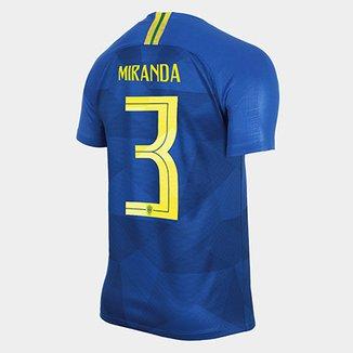 10b1e3e9d Camisa Seleção Brasil II 2018 nº 3 Miranda - Torcedor Nike Masculina