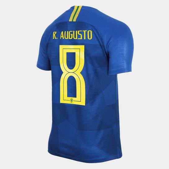 9825ef718c Camisa Seleção Brasil II 2018 nº 8 R. Augusto - Torcedor Nike Masculina -  Azul