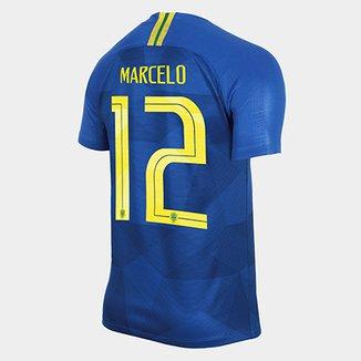 1590d33a895ae Camisa Seleção Brasil II 2018 nº 12 Marcelo - Torcedor Nike Masculina
