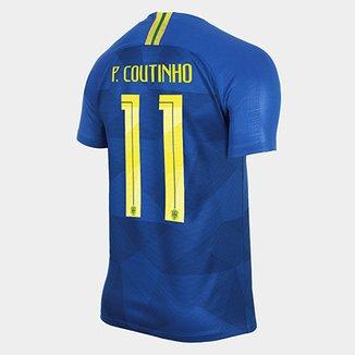 387c516766 Camisa Seleção Brasil II 2018 nº 11 P. Coutinho - Torcedor Nike Masculina