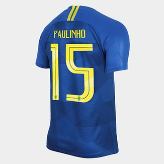 bc7ce3ddd Camisa Seleção Brasil II 2018 nº 15 Paulinho - Torcedor Nike Masculina