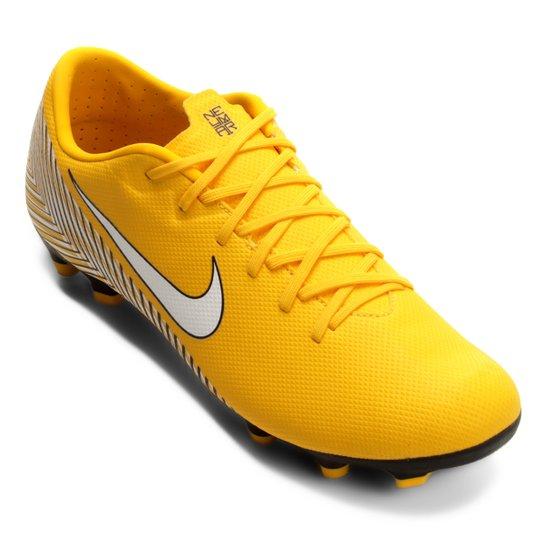 6280994bf9 Chuteira Campo Nike Mercurial Vapor 12 Academy Neymar FG - Amarelo ...