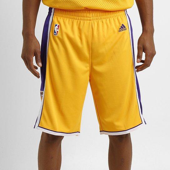 c66296460c Bermuda Adidas NBA Swingman Los Angeles Lakers - Compre Agora