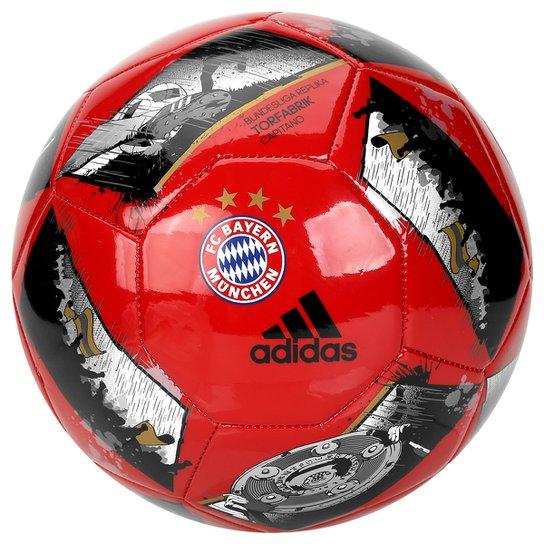 Bola Futebol Campo Bayern de Munique Adidas Capitano - Vermelho e ... e579ccdbb8d5b