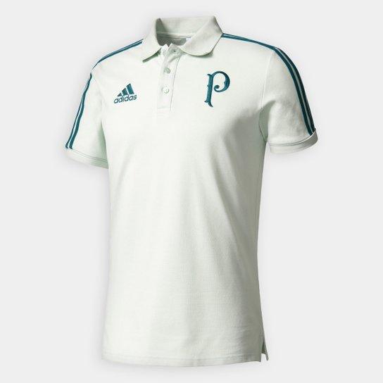 Camisa Polo Palmeiras Adidas Viagem 17 18 Masculino - Verde claro ... 43e29f4a6e50a
