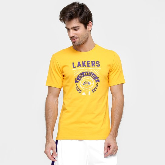 Camiseta Adidas Nba Los Angels Lakers Ml Compre Agora Netshoes 1955afd1394
