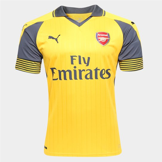 Camisa Arsenal Away 16 17 s nº Torcedor Puma Masculina - Compre ... 29f7b8182bc05