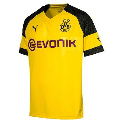 Camisa Infantil Borussia Dortmund Home 18/19 s/n° - Torcedor Puma