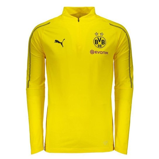 040bdfd62cb4b Camisa de Treino Manga Longa Borussia Dortmund Puma Training 2019 Masculina  - Amarelo
