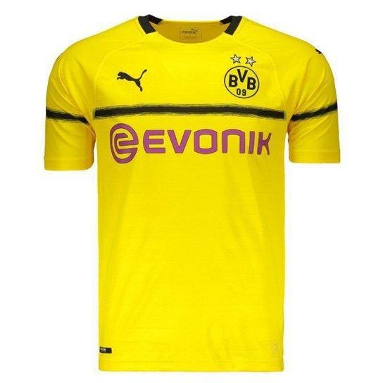 602ad0595 Camisa Puma Borussia Dortmund 2019 N°11 Reus Masculina - Amarelo ...