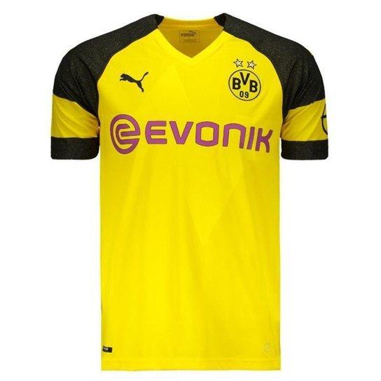 0e8db07b8a Camisa Puma Borussia Dortmund Home 2019 N°11 Reus Masculina - Amarelo