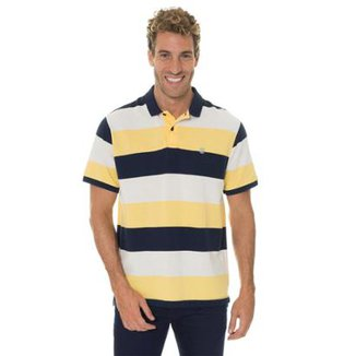 f62d600889 Camisa Timberland Polo Millers River Pique Wide Stripe Masculina