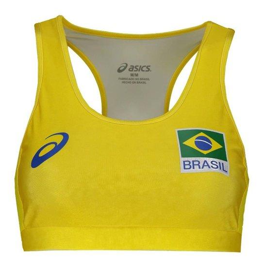 bde3e7a5ca Top Vôlei Praia Asics CBV Brasil - Amarelo - Compre Agora