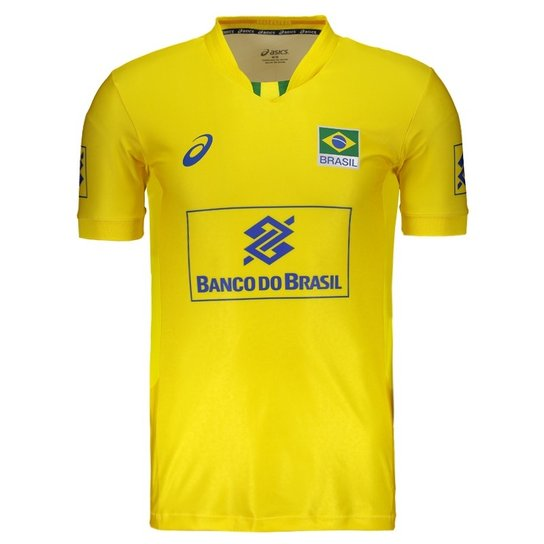 b07d4429e9073 Camisa Asics Brasil Vôlei CBV 2017 Masculina | Netshoes