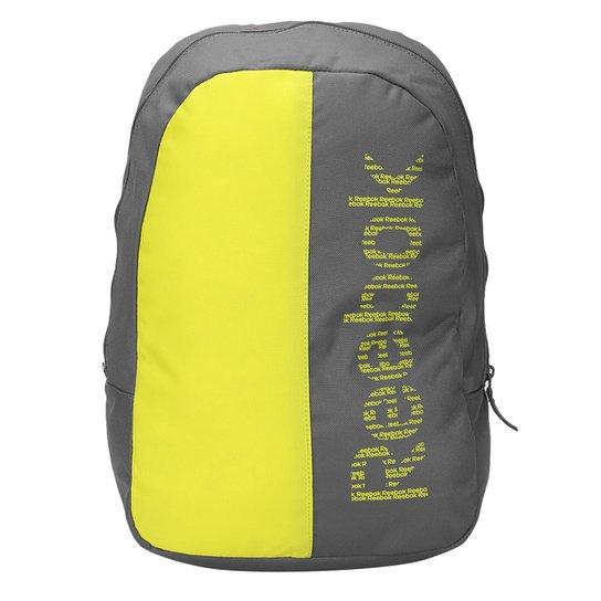 Mochila Infantil Reebok U Essentials - Chumbo e Amarelo - Compre ... aaeb56cad04