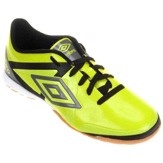 ba7a212e37 Chuteira Futsal Umbro Velocita League Masculina - Verde Limão+Preto