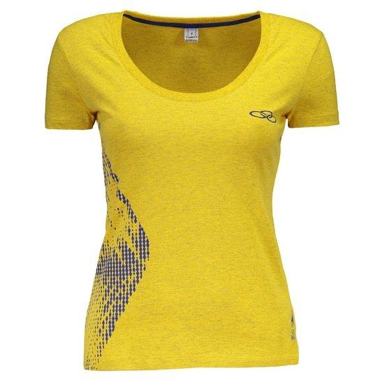 d43e53a393 Camiseta Brasil Vôlei CBV Olympikus Feminina - Compre Agora
