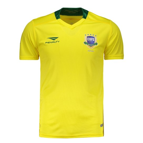 Camisa Penalty Brasil Futsal CBFS I 2017 - Compre Agora  3819c96fc8542