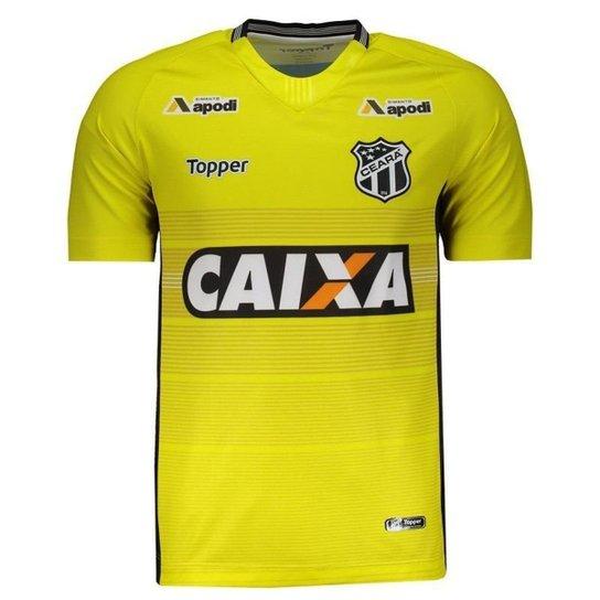 6e6d3df26a Camisa Topper Ceará Goleiro I 2018 - Amarelo - Compre Agora