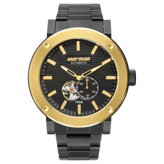 8dc312adf619c Relógio Analógico Mormaii Mo82S0Aa-3K Masculino - Dourado e Preto ...