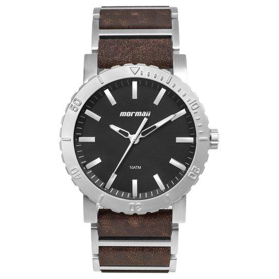 Relógio Mormaii Analógico MO2035II-0P Masculino - Prata e Preto ... 2525a5609d