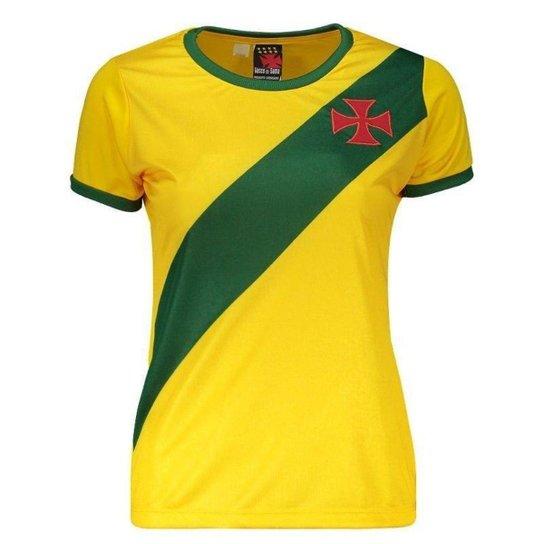 ... FutFanatics 3cfff0e9b537bb  Camisa Brasil Vasco da Gama Feminina -  Amarelo - Compre Agora Netshoes f7e5c3c4ba0195 ... be9accfea1597