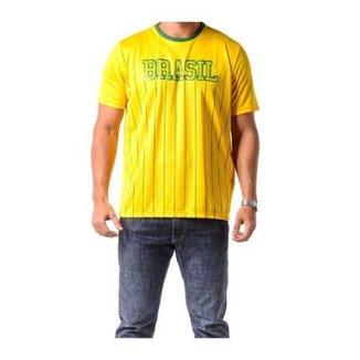 Camiseta Braziline Manga Curta Brasil Xingu Adulto 91dd8a916d28e