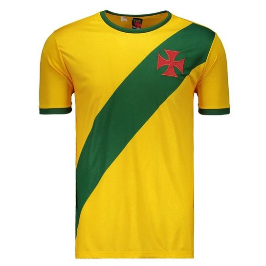 2a3bd44b83 Camisa Brasil Vasco da Gama Masculina - Amarelo - Compre Agora ...
