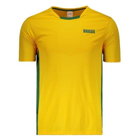 Camisa Brasil Itaguaí Masculina - Amarelo - Compre Agora  e8a446b9ca9