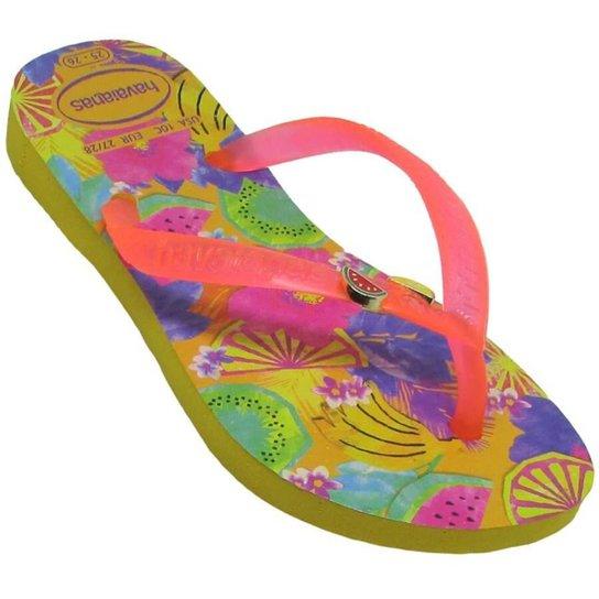 fc8e7bbcab2055 Chinelo Infantil Havaianas Kids Slim Summer Feminino - Compre Agora ...