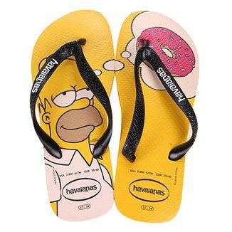 235dbc33d Chinelo Havaianas Estampado Os Simpsons
