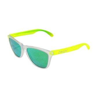 c77a2fd91 Óculos Oakley Frogskins Matte Clear / Lente Jade Iridium