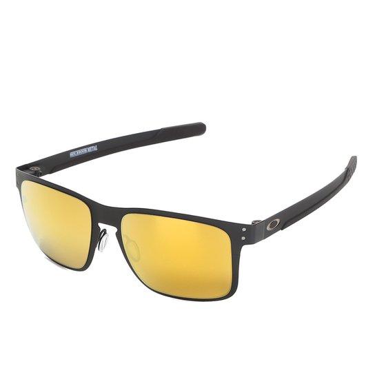 f4bf0e801 Óculos Oakley Holbrook Metal Iridium Masculino - Amarelo | Netshoes