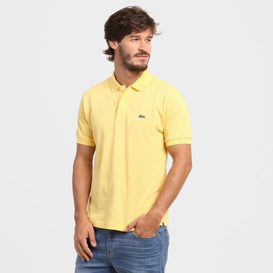 e481441945c Camisa Polo Lacoste Original Fit Masculina - Amarelo - Compre Agora ...