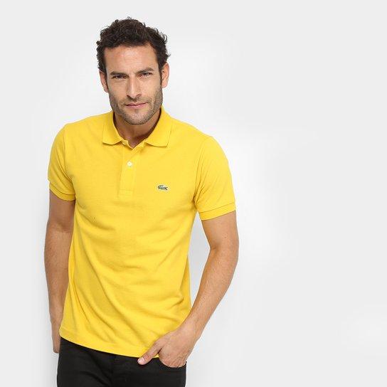 d5c7cd54002 Camisa Polo Lacoste Piquet Original Masculina - Amarelo - Compre ...