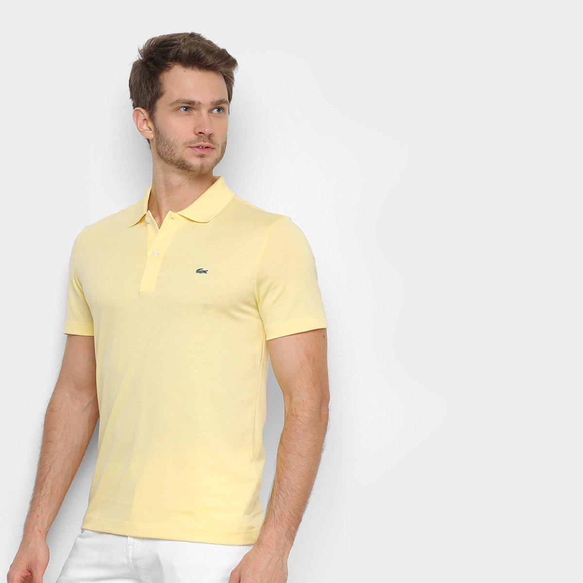 Foto 1 - Camisa Polo Lacoste Malha Original Fit Masculina